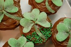 Our clover cupcakes:)