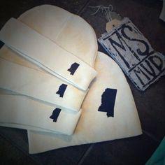 Mississippi Beanie Hats on Etsy, $12.00