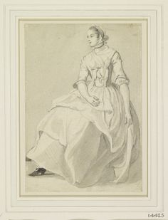 Paul Sandby A seated female figure circa Probably from a volume of 134 figure studies acquired at the Paul Sandby estate sale, 1811 History Of England, Observational Drawing, 18th Century Fashion, Gray Background, Fashion Plates, Art Boards, Folk Art, Sketches, Figure Studies