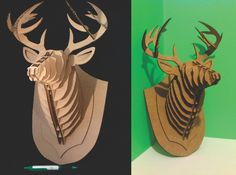 Deer Mount Puzzle 3D Combo Deal Small and Large. $24.99, via Etsy.