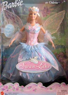Lago de los Cisnes Barbie Doll como ODETTE w Light Up Wings (2003)