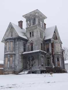 Beautiful, old abandoned Victorian in Coudersport, PA in winter. Feb 2014