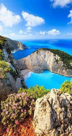 Navagio is one of the most beautiful beaches in Greece. It is located on the north-west shore of the stunning Zakynthos Island. It is the home of a famous ship wreck, called Panagiotis, which is why the beach is also called 'Smugglers Cove'.