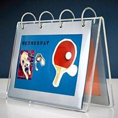 Ein Wochenplan aus einem transparenten FINLIR Bilderhalter zeigt obendrein dein handwerkliches Geschick.