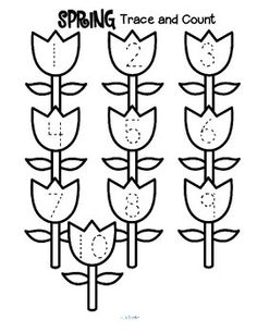 ***FREE*** Here are three Spring-themed tracing and counting pages for early learners. Count the sets, recognize and trace the numbers, add extra details (ladybugs, a worm for each bird, butterflies?) and color if desired.