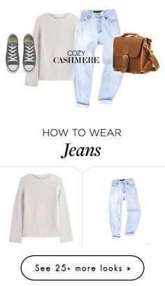 """""""Cozy Cashmere"""" by freddarling on Polyvore featuring Helmut Lang and Converse"""