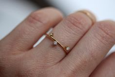 14k Floating Constellation Diamond Ring Star Ring by LieselLove