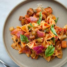Farfalle with Caponata (Eggplant-Based Relish!)