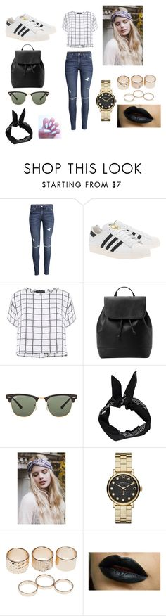 """Untitled #5"" by millmarina ❤ liked on Polyvore featuring H&M, adidas Originals, Myne, MANGO, Ray-Ban, Boohoo, Marc by Marc Jacobs and Wet Seal"