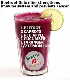 Beetroot Juice To Strengthen Immune System and Cancer Prevention - Pins Juice Cleanse Recipes, Healthy Juice Recipes, Healthy Juices, Healthy Smoothies, Healthy Drinks, Smoothie Recipes, Detox Juices, Detox Drinks, Detox Recipes