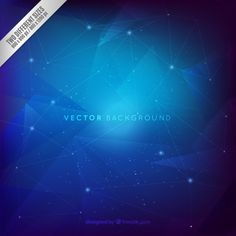 Blue constellations background Free Vector
