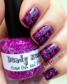 Houndstooth and a fun polish.
