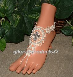 Cross Barefoot Sandals Foot Jewelry Bridal by gilmoreproducts33