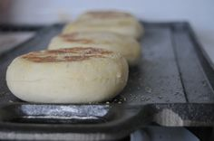 homemade english muffins. these would be awesome with pb and honey or butter and jam. mmm.
