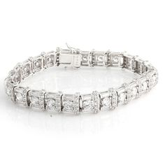 """Victoria Wieck Absolute Sterling Silver Baguette and Round 7"""" Bracelet Z452 #VictoriaWieck #Line #hsn"""