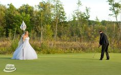 "Just playin' a few rounds of golf before saying ""I Do,"" you know, the usual. Photo Credit - Dave Bigler Productions"