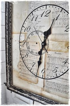 No instructions, but looks like this would be a great project. Paint clock on inside of glass, hands through back with small battery powered motor for hands.  Collage of children, wedding momentos etc