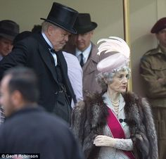 Actor John Lithgow plays Prime Minister Winston Churchill at the filming for the Netflix series The Crown Netflix Series The Crown, The Crown Series, Crown Netflix, John Lithgow, Netflix Dramas, Actor John, Prince Philip, Crown Royal, Period Dramas