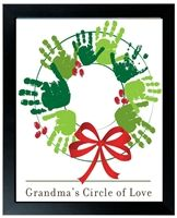 Personalized Handprint Christmas Wreath from The Grandparent Gift Co. The perfect Christmas gift for Grandma!