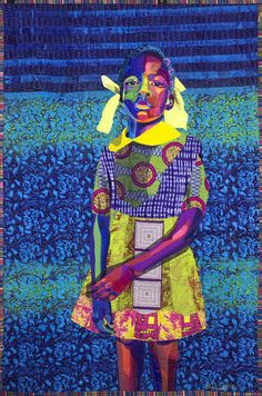 See a stunning collection of portrait quilts made from African fabric by Bisa Butler.