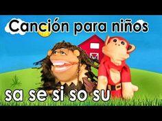 Canción la le li lo lu - El Mono Sílabo - Videos Infantiles - Educación para Niños # - YouTube