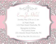 Invitación de comunión de niñas o invitación de por simplyprintable