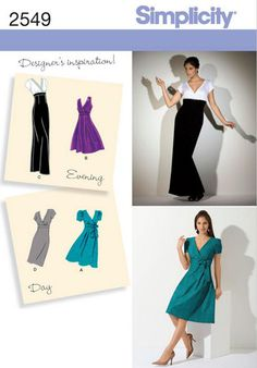 Simplicity sewing pattern 2549 Dress in 2 Lengths with Skirt Variations e9dd85800
