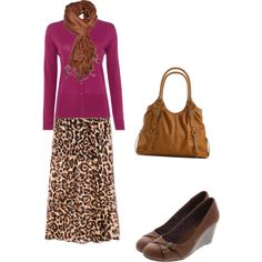Raspbery & Leopard: fall 2014 modest by trinity-holiness-girl on Polyvore featuring Linea, Forever 21 and Kelly & Katie