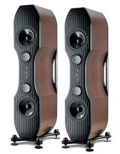 Looks like Accuton mid-bass units in these Kharma speakers.  I've seen Accuton drivers used it the most extreme high-end speakers around. . . they must sound pretty awesome.