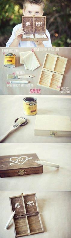 diy ring bear box wedding ideas #diywedding #diyweddingideas #weddingdecor #weddingideas