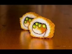Deep fried sushi roll recipe - delicious crispy tempura sushi food - YouTube