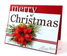 Beautiful Merry Christmas Poinsettia Card...KC Memory Box.
