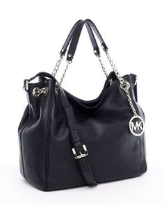MICHAEL Michael Kors | Jet Set Medium Gathered Shoulder Tote, Black