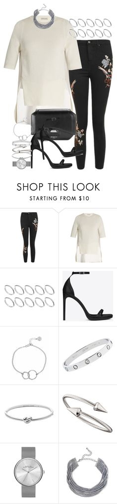 """Sin título #4241"" by hellomissapple on Polyvore featuring moda, Topshop, Moncler, ASOS, 3.1 Phillip Lim, Yves Saint Laurent, Chupi, Cartier, Michael Kors y Jules Smith"