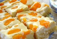 Mandarinos-túrós szelet