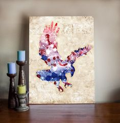 American Eagle Art Canvas Print - Patriot USA Mixed Media Art Painting on Stretched Canvas by ClikchicDesign #photoshop #graphic #design by Clikchic Designs