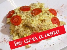 Orez cu ciuperci. Foarte cremos si aromat. - YouTube Risotto, Grains, Rice, Ethnic Recipes, Youtube, Food, Essen, Meals, Seeds