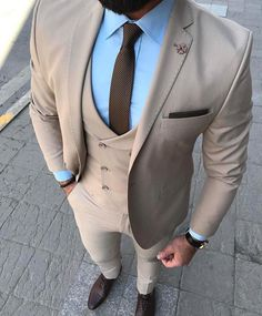"""Success is walking from failure to failure with no loss of enthusiasm. Wedding Dresses Men Indian, Wedding Suits, Mens Fashion Blazer, Suit Fashion, Fashion 2020, Estilo Cool, Men Dress Up, Designer Suits For Men, Gentleman Style"