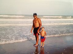 summer 1997 - South Padre Island South Padre Island, The Old Days, Vacations, Old Things, Swimwear, Summer, Fathers, One Piece Swimsuits, Summer Time