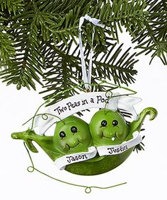 Another great find on #zulily! Twin Peas in a Pod Personalized Ornament #zulilyfinds