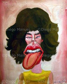 """Mick"", acrylic on canvas, 29 x 24 cm. #jagger #followart #rollingstones Price of original painting us$300"