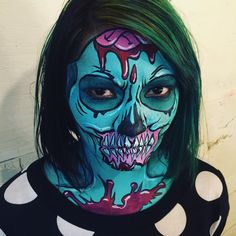 """""""Because I HAD to try a Pop Art Zombie! #popart #zombie #popartzombie…"""