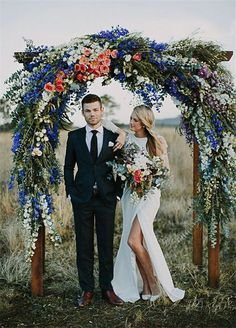 bright and beautiful bohemian inspired arbor Wedding arch