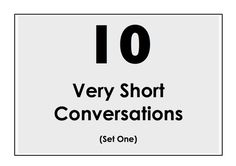 10 Very Short Conversations to Learn English. Set One. Easy English Conv...