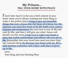fill your home with peace