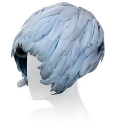 Halston feather hat