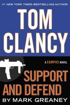 Tom Clancy Support and defend by Mark Greaney.  Click the cover image to check out or request the bestsellers kindle.