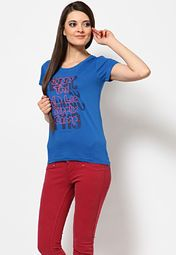Buy Lee Women T-Shirts online in India. Huge selection of Women Lee T-Shirts
