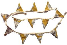 Handmade John Lewis Connections yellow ochre fabric bunting garland - Personal Space Interiors - the home of fabulous handmade vintage, retr. Fabric Bunting, Bunting Garland, Space Interiors, Personal Space, John Lewis, Home Furnishings, Contemporary, Website, Retro