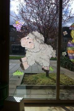 Lente, raamschildering lammetje Slg, Window Art, Decoration, Windows, Education, School, Creative, Kids, Window Treatments